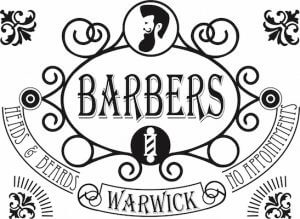 Barbers of Warwick window