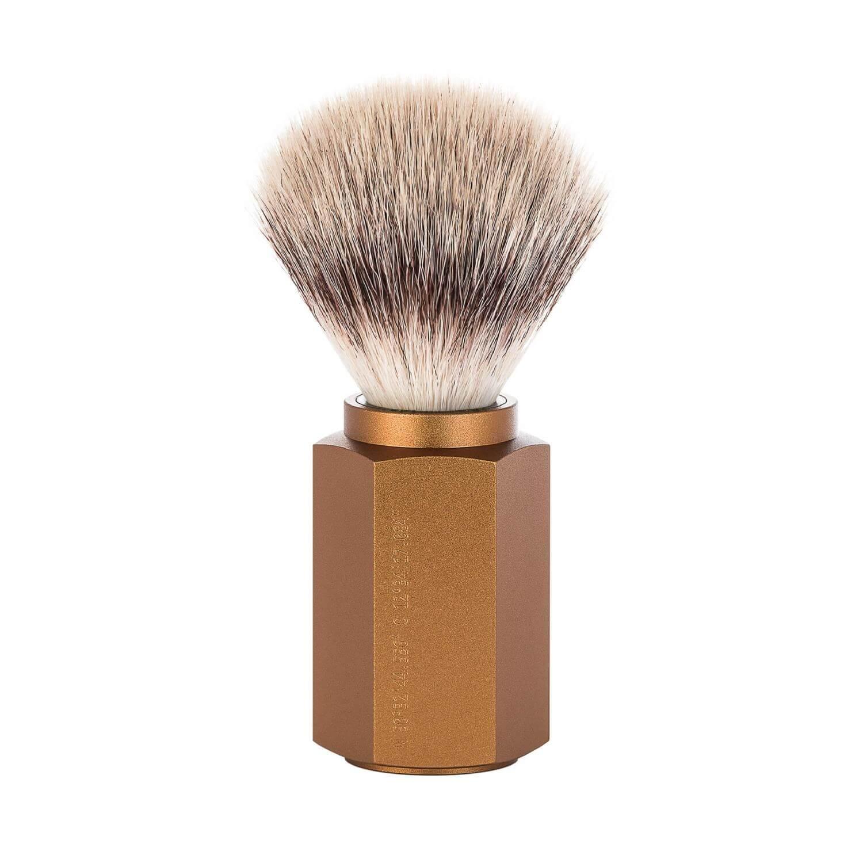 Muhle Bronze hexagon shaving Brush