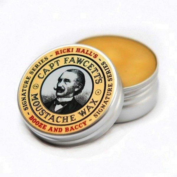 captain fawcett Booze & Baccy moustache wax