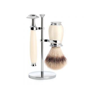 Ivory purist shaving set